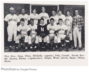 David Horton coach 1966 baseball