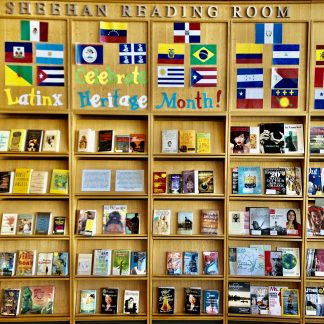 Putnam Library display for Latinx/Hispanic Heritage Month