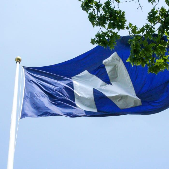 Nobles flag flying
