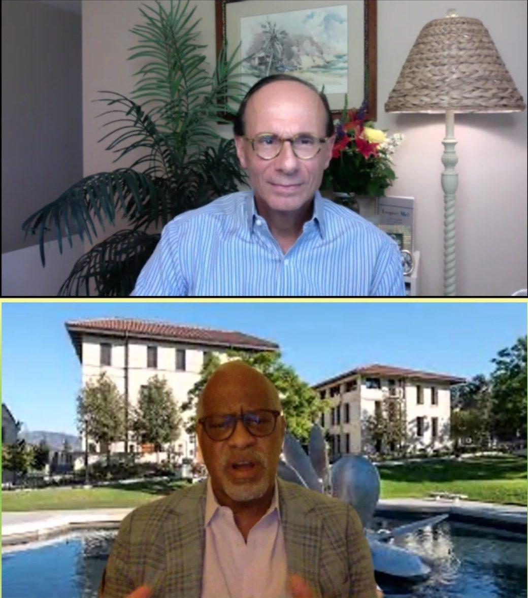 Harry Elam and Paul Ayoub '74