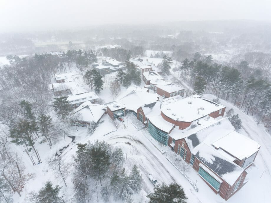 Nobles campus after the snow